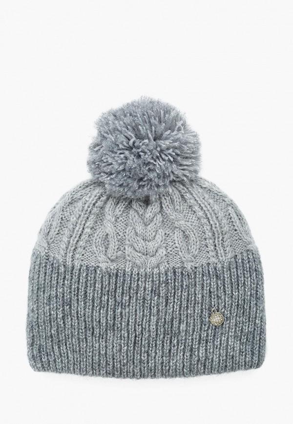 шапка zhakko для девочки, серая