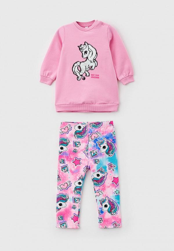 спортивный костюм playtoday для девочки, розовый