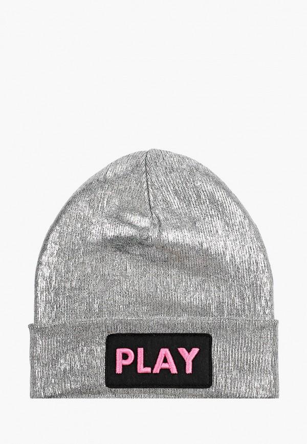 шапка playtoday для девочки, серебряная