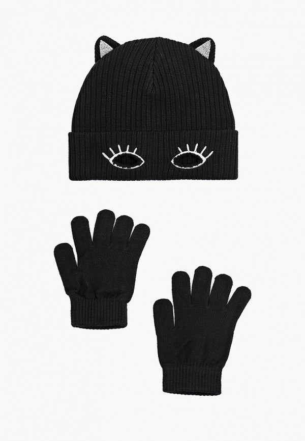 шапка playtoday для девочки, черная