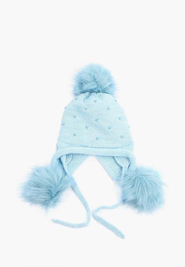 шапка playtoday для девочки, голубая