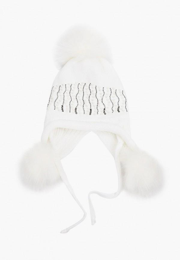 шапка playtoday для девочки, белая