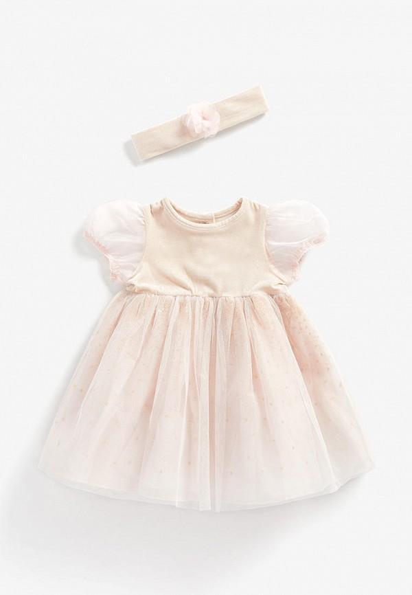 вязаные платье mothercare для девочки, розовое