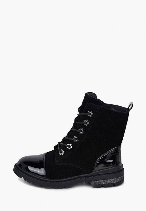 ботинки alessio nesca для девочки, черные