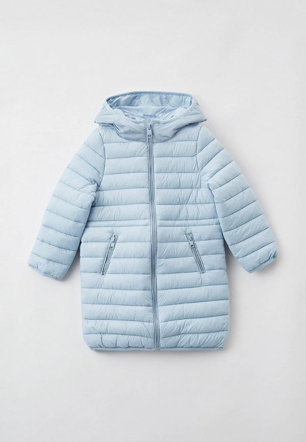 утепленные куртка sela для девочки, голубая