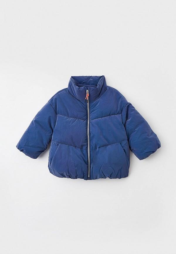 утепленные куртка sela для девочки, синяя