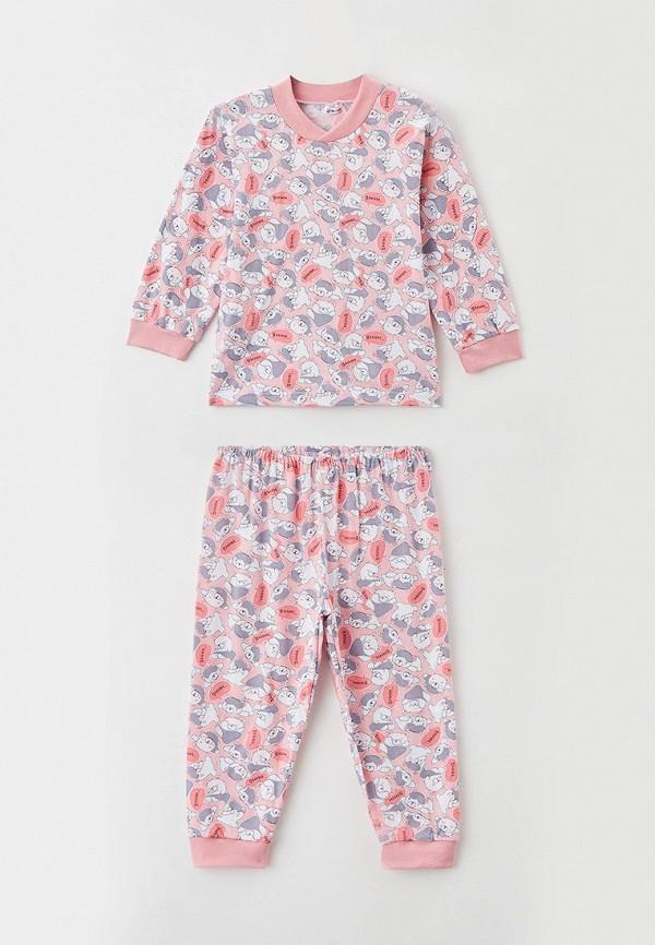 пижама youlala для девочки, розовая