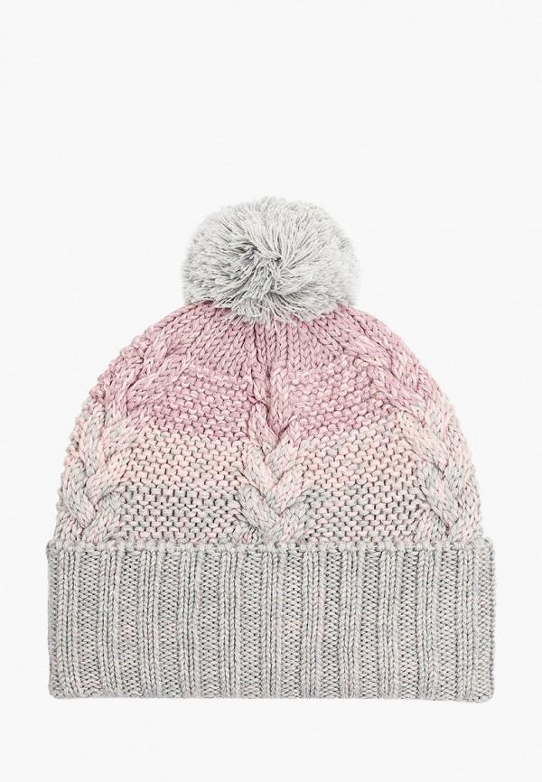 шапка demix для девочки, разноцветная