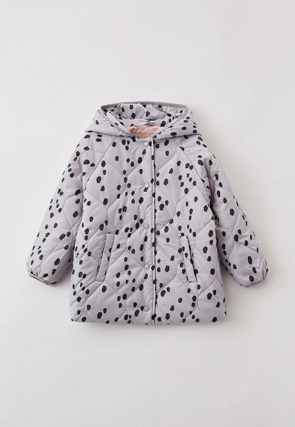 утепленные куртка sela для девочки, серая