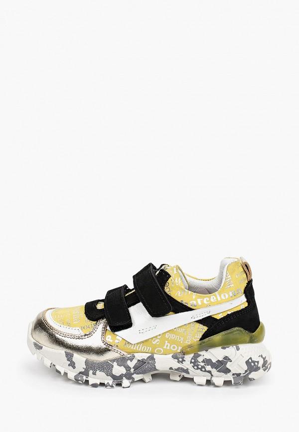кроссовки ташики anatomic comfort для девочки, желтые