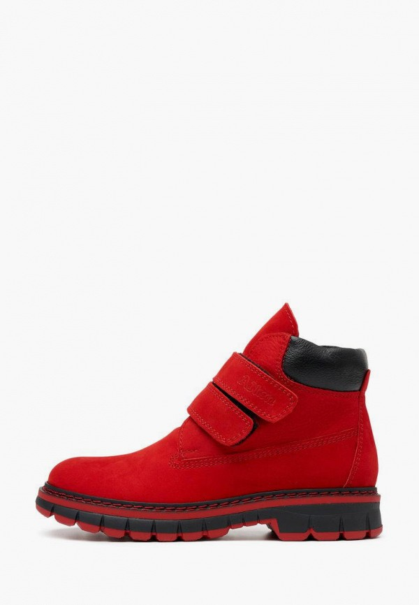 ботинки alessio nesca для девочки, красные