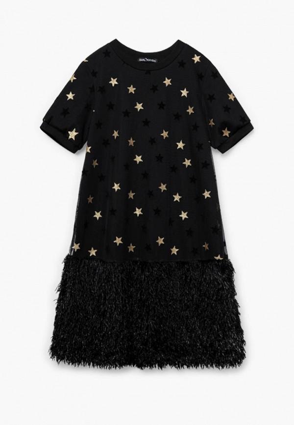 повседневные платье bell bimbo для девочки, черное