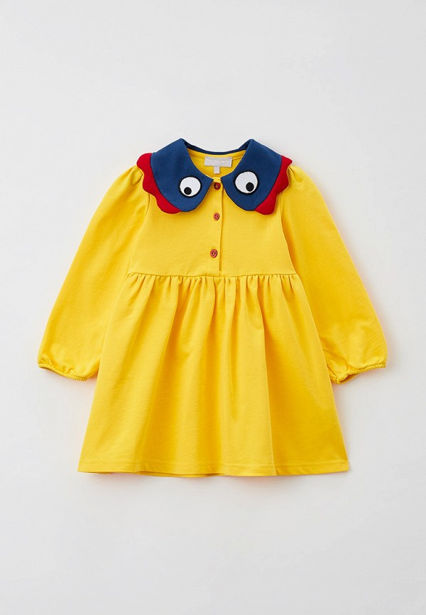 повседневные платье smena для девочки, желтое