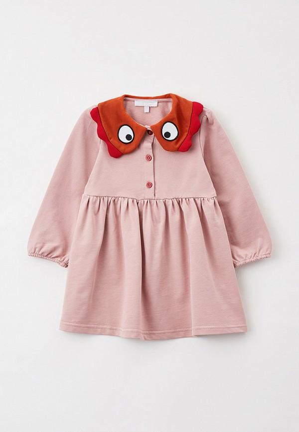 повседневные платье smena для девочки, розовое