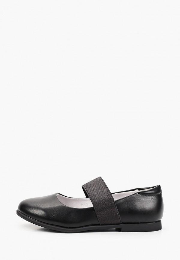 туфли munz young для девочки, черные