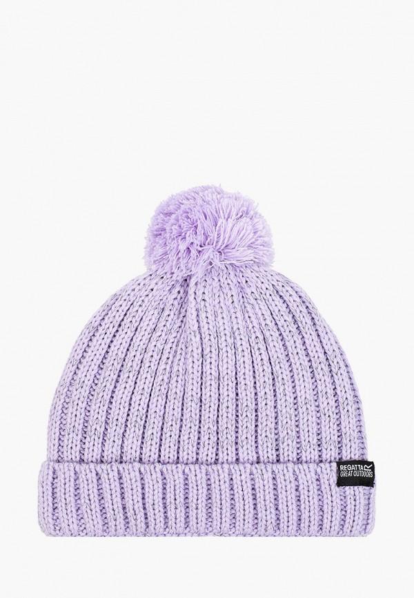 шапка regatta для девочки, фиолетовая