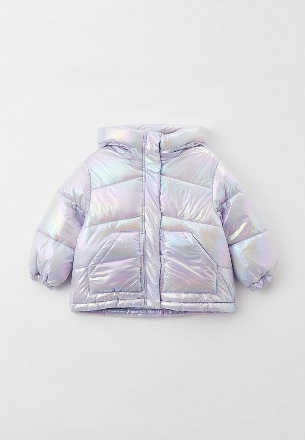 утепленные куртка sela для девочки, разноцветная