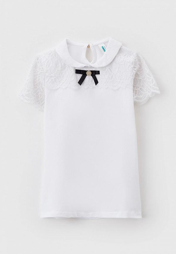 блузка acoola для девочки, белая