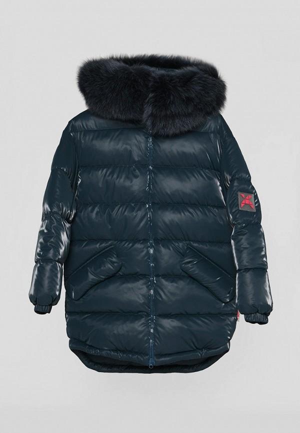 куртка carica&x-woyz для девочки, бирюзовая