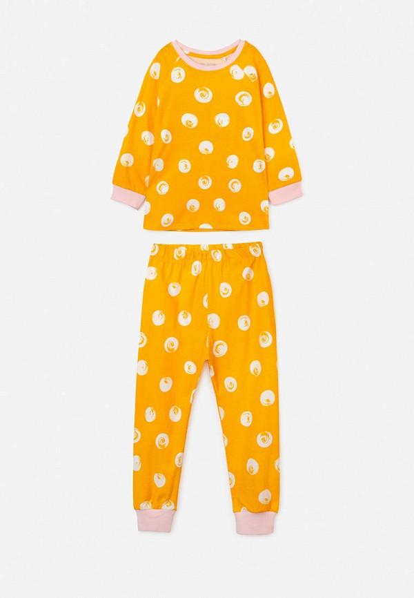 пижама gloria jeans для девочки, оранжевая