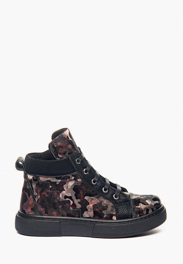 ботинки theo leo для девочки, коричневые