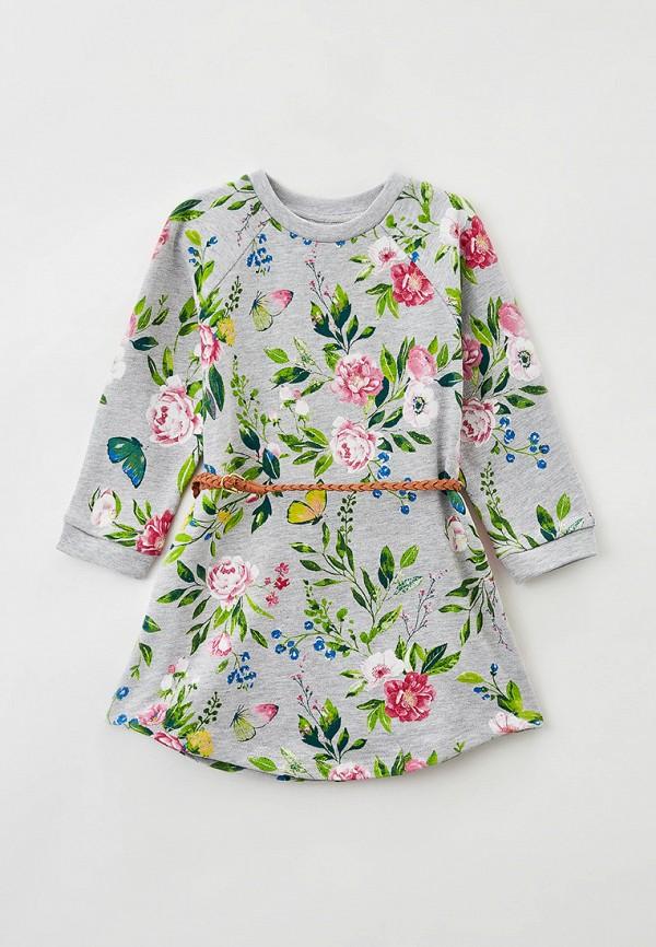 повседневные платье acoola для девочки, серое