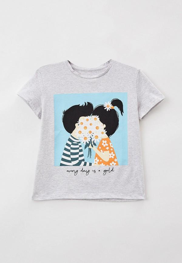 футболка с коротким рукавом mark formelle для девочки, серая