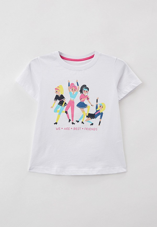футболка с коротким рукавом mark formelle для девочки, белая
