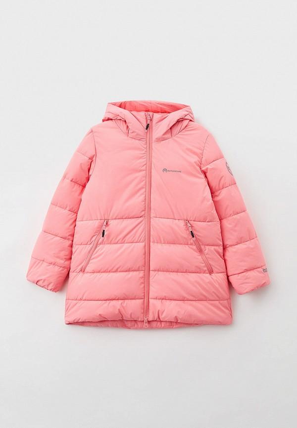 утепленные куртка outventure для девочки, розовая