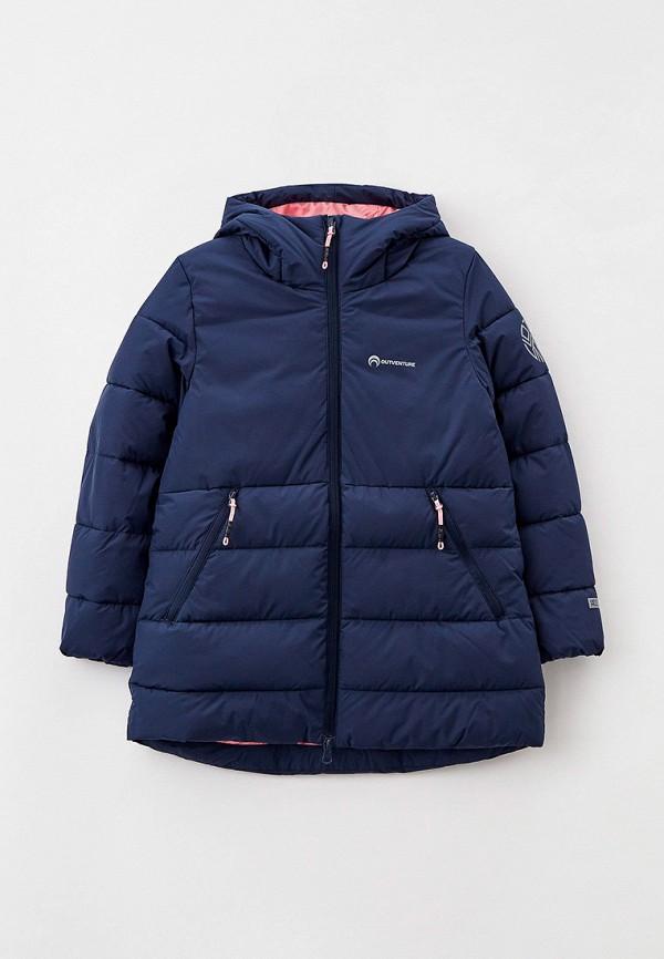 утепленные куртка outventure для девочки, синяя