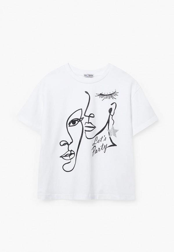 футболка с коротким рукавом bell bimbo для девочки, белая
