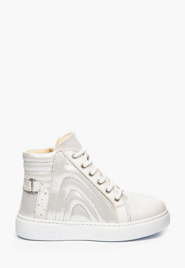 ботинки theo leo для девочки, белые