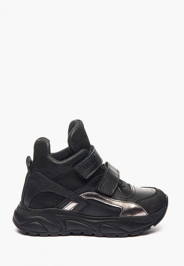 ботинки theo leo для девочки, черные