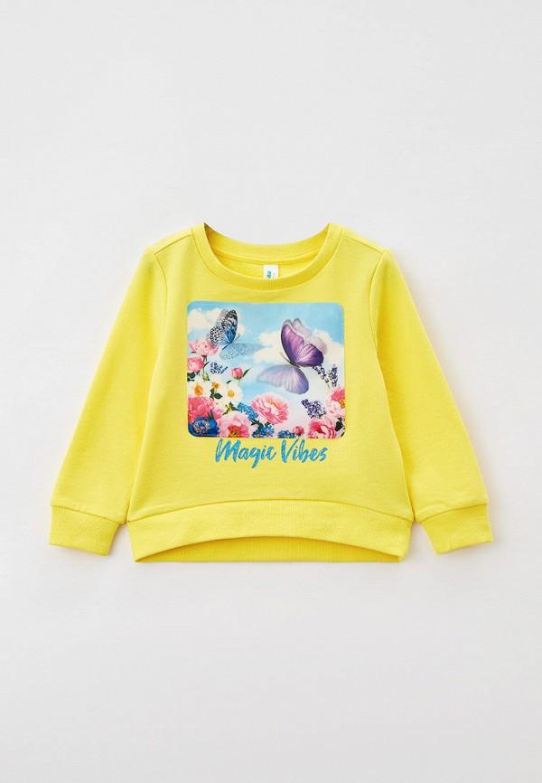 свитшот acoola для девочки, желтый