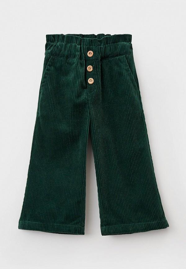 брюки sela для девочки, зеленые