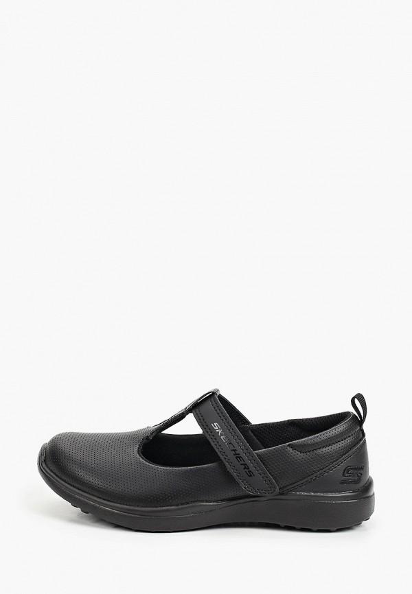 туфли skechers для девочки, черные