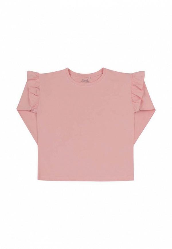 лонгслив бемби для девочки, розовый