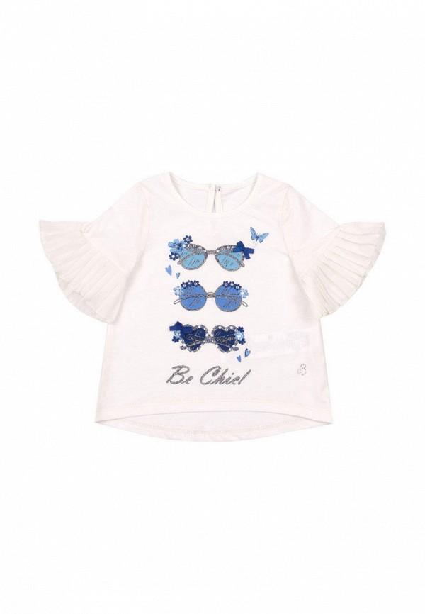 футболка с коротким рукавом бемби для девочки, бежевая