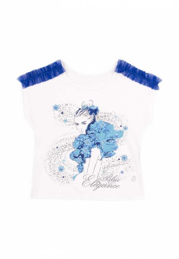 футболка с коротким рукавом бемби для девочки, белая