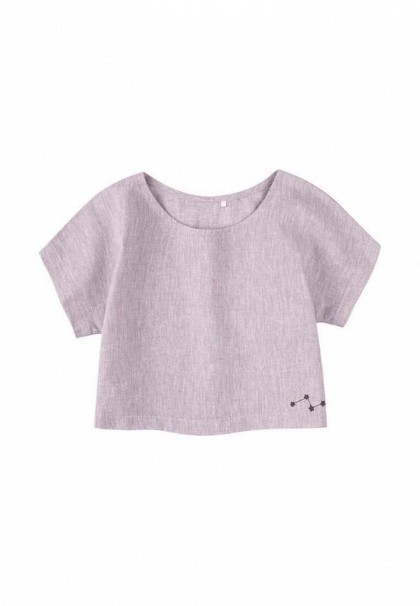 футболка с коротким рукавом бемби для девочки, серая