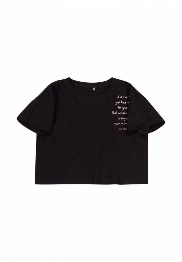 футболка с коротким рукавом бемби для девочки, черная