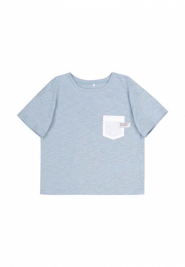 футболка с коротким рукавом бемби для девочки, голубая