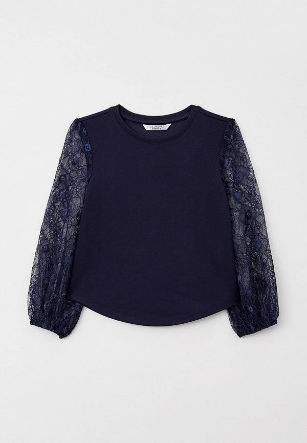блузка gloria jeans для девочки, синяя