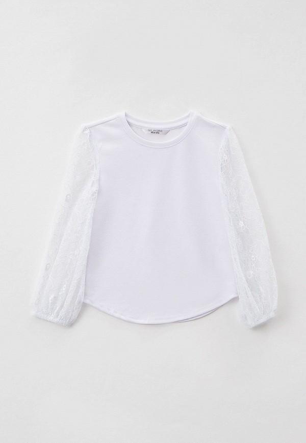 блузка gloria jeans для девочки, белая