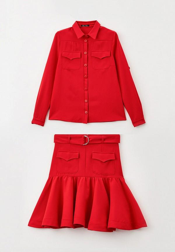 костюм fabia monti для девочки, красный