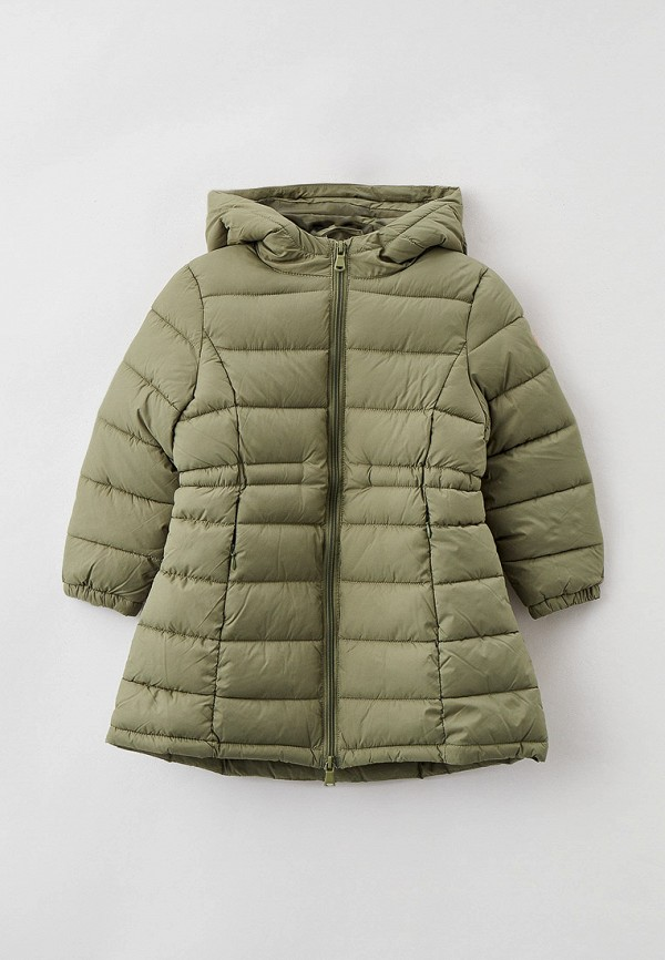 утепленные куртка sela для девочки, хаки
