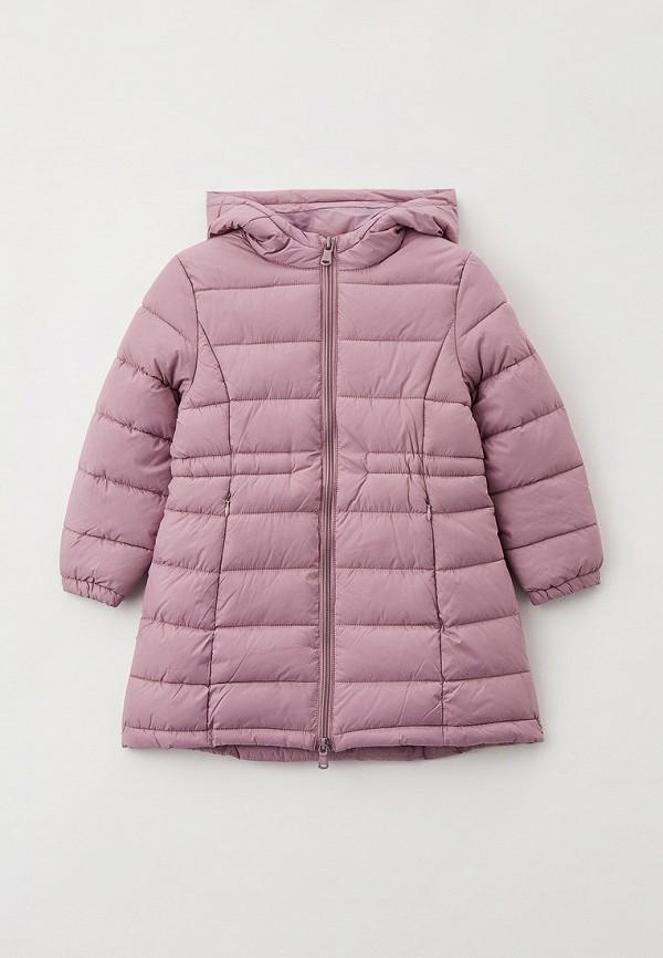 утепленные куртка sela для девочки, фиолетовая