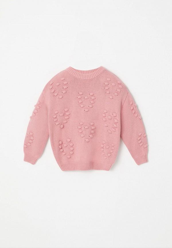 джемпер sela для девочки, розовый