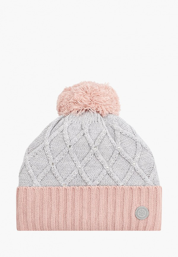 шапка glissade для девочки, серая