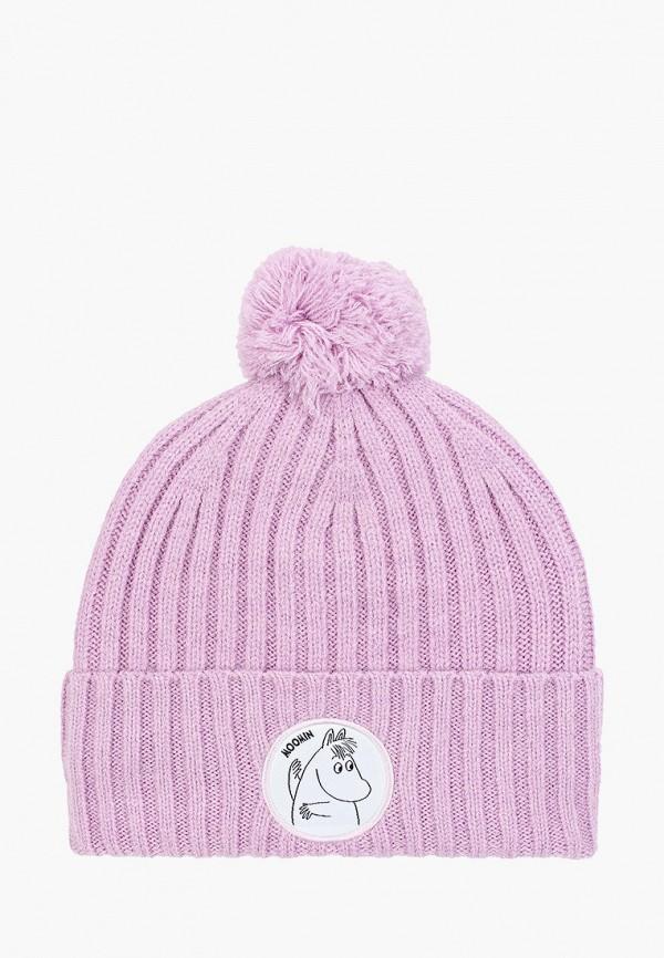 шапка sela для девочки, фиолетовая